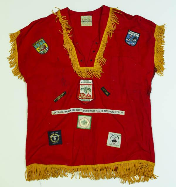 Uniform with badges.