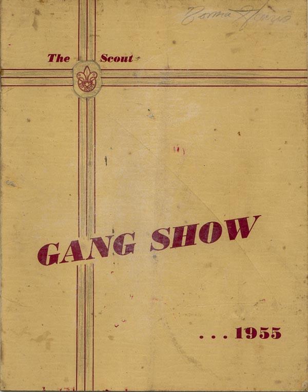 Gang Show program, 1955.