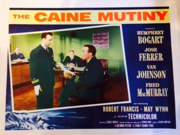 Lobby card for The Caine Mutiny