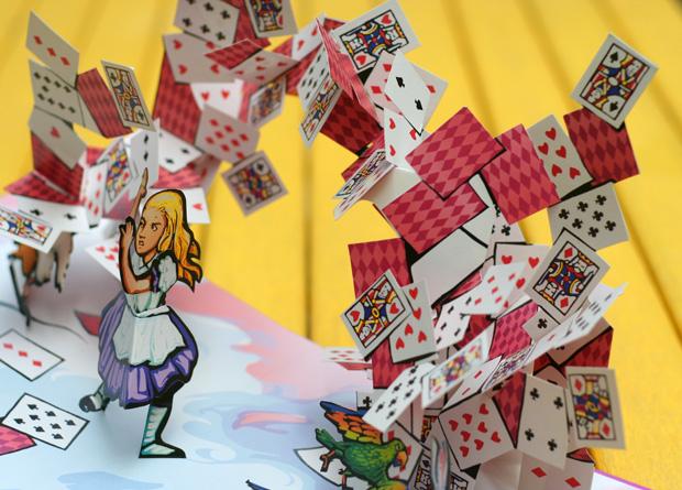 Alice in Wonderland pop up book.