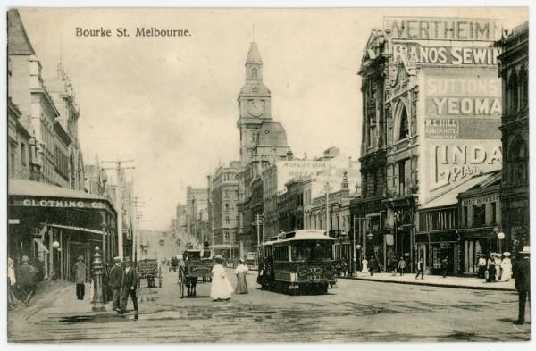 Bourke St, Melbourne.