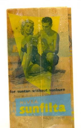 'Nivea sunfilta' information flyer. Circa 1950s-1960s. Collection of Mandy B.