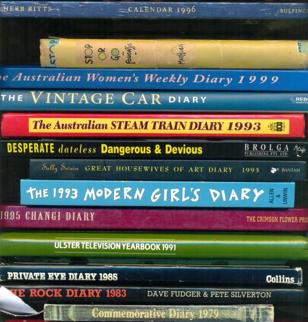 Diaries, horizonatal stack Felix