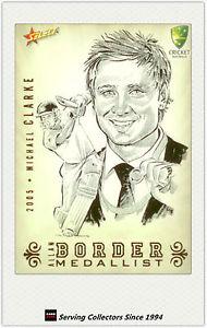 Border medallist, swap card, 2005.