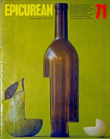 Epicurean cover designed by Les Mason.