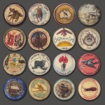 A selection of Australia Day badges from 1917/1918 collected by Ian Armstrong